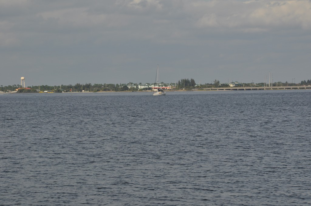 OWT! sits quietly at anchor in Charlotte Harbor
